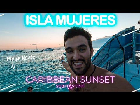 PLAYAS DE ISLA MUJERES | CITY TOUR Y SUNSET PLAYA NORTE | CARRIBEAN SUNSET | QUE HACER?