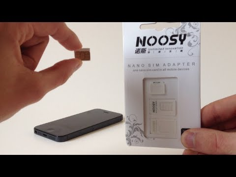 adaptateur nano sim micro sim sim pour iphone youtube. Black Bedroom Furniture Sets. Home Design Ideas