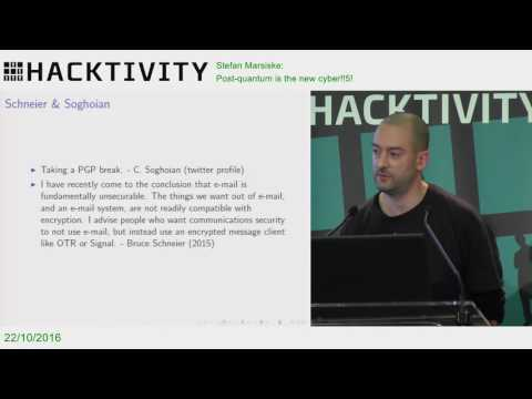 Stefan Marsiske – Post-quantum is the new cyber!!5!
