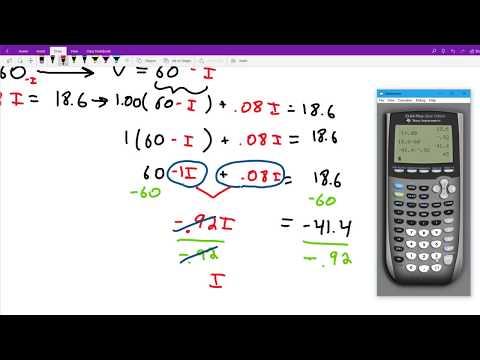 Solving a percent mixture problem using a system of linear equations