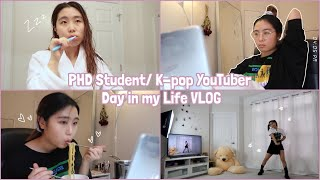 [VLOG] Phd Student/Kpop YouTuber Day in my Life | How I manage school and YouTube 💻▶️