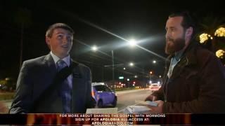 Mormon Missionary Speechless (Walks Away)