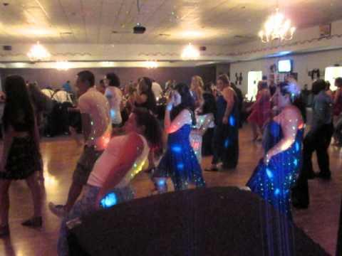 electric slide wobble!!jj and brandons wedding