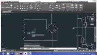AutoCAD 2015, полное построение схемы в ускоренном видео.