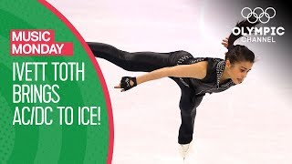 Ivett Toth brings AC/DC to ice - Back in Black + Thunderstruck | Music Monday