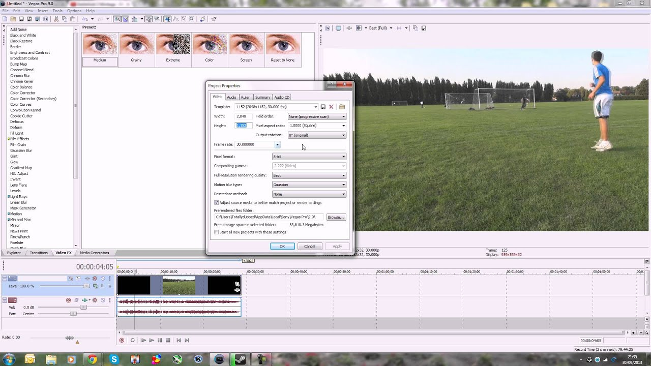 youtube now has 1440p resolution - sony vegas render settings -