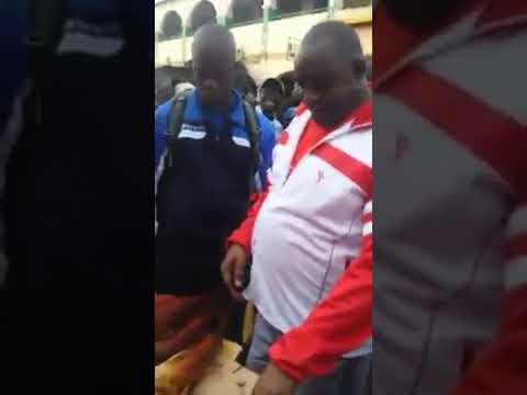 President Adama barrow at the Albert market in banjul