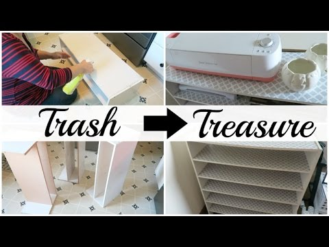 Trash to Treasure | Craft Room Organizer