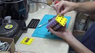 18650 Li-ion 12V battery assembly and test