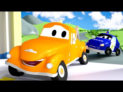 Pequeno Matt - Tom o Caminhão de Reboque na Cidade do Carro  Desenhos animados crianças