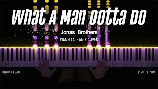 Download Song Jonas Brothers - What A Man Gotta Do Piano Cover by Pianella Piano MP3