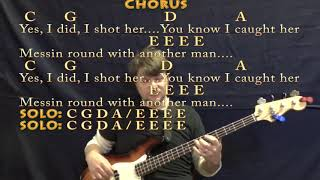 Hey Joe Traditional Bass Guitar Cover Lesson with Chords amp Lyrics