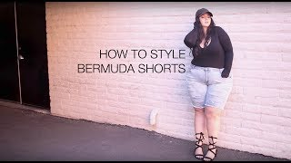 PLUS SIZE FASHION TRY ON TREND | BERMUDA SHORTS | How to Style Plus Size Bermuda Shorts