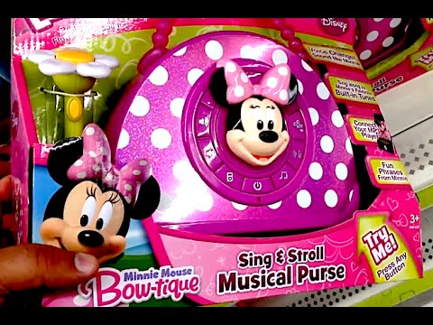 MINNIE MOUSE BOW-TIQUE SING & STROLL MUSICAL PURSE [Karaoke] Disney