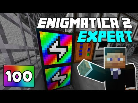 Repeat Enigmatica 2: Expert Mode - EP 100 Rainbow Generator Crafting