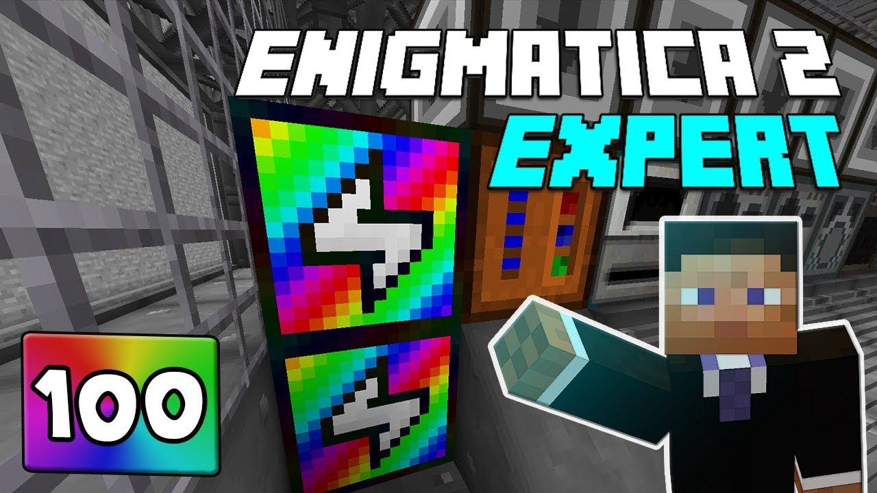 Repeat Enigmatica 2: Expert Mode - EP 100 Rainbow Generator Crafting