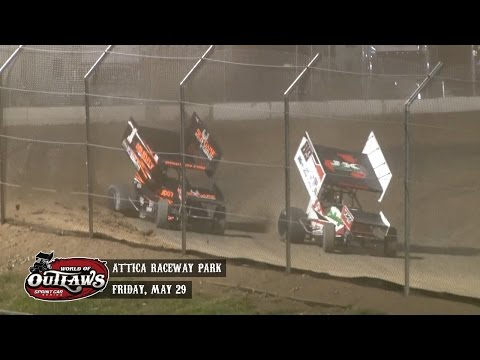 Highlights: World of Outlaws Sprint Cars Attica Raceway Park May 29th, 2015