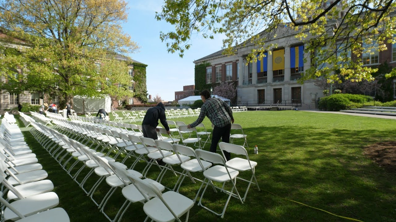 Behind the Scenes of Commencement Setup