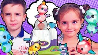 ВОЗДУШНЫЕ Животные из Шариков Челлендж Oonies Набор для надувания шариков Видео для детей +0