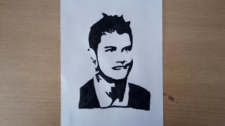Cristiano Ronaldo | How to draw cristiano ronaldo silhouette drawing step by step.