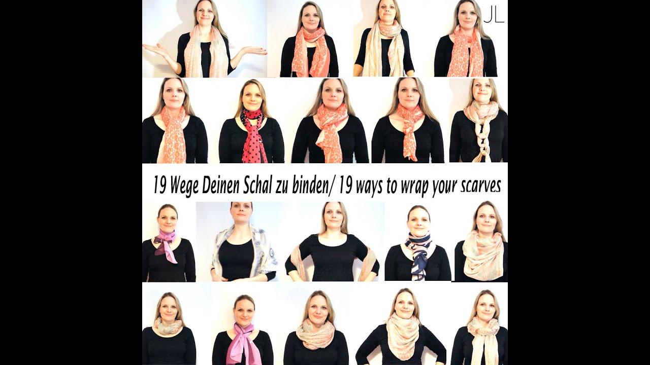 schals richtig binden 19x sehr einfach 19 ways to tie a scarf very easy youtube. Black Bedroom Furniture Sets. Home Design Ideas