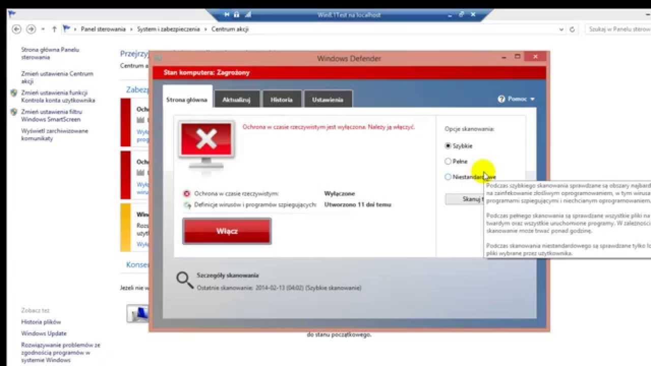 how to turn on windows defender 8.1