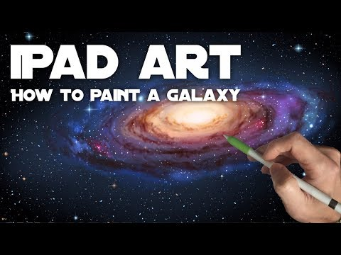 HOW TO PAINT A GALAXY - Apple Pencil painting and drawing tutorial on iPad Pro in Procreate