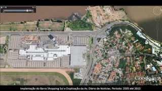 Implantação do Barra Shopping Sul, bairro Cristal - Porto Alegre