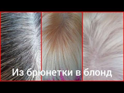 Из брюнетки в блондинку за 200 рублей Пепельный блонд Тоника Окрашивание волос дома