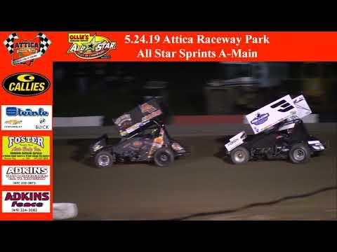 5.24.19 Attica Raceway Park All Star Sprints A-Main