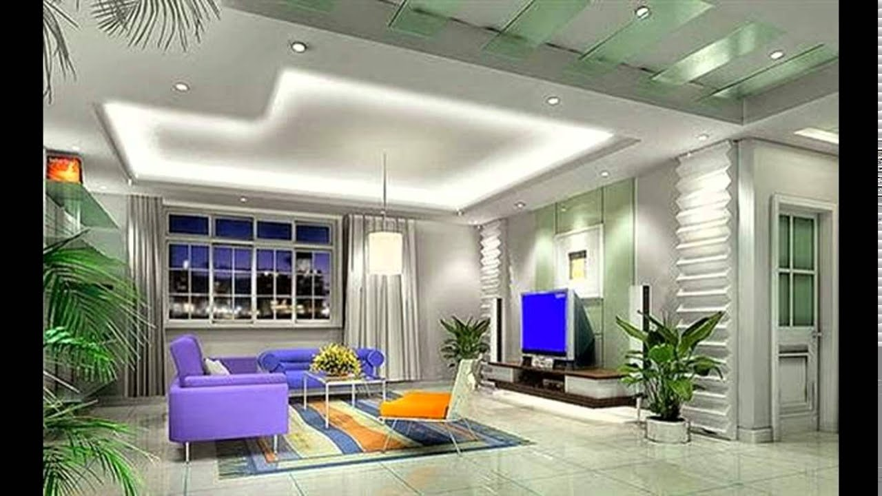 Pop designs for living room ceiling youtube for Interior decoration living room roof