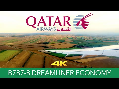 Qatar Airways B787-8 Vienna ✈ Doha Economy 4K Trip Report
