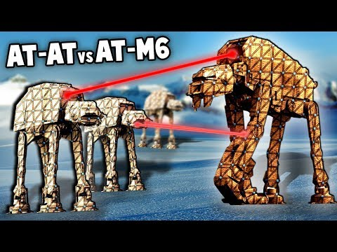 NEW First Order AT-m6 vs AT-AT! (Forts Star Wars Mod Gameplay)