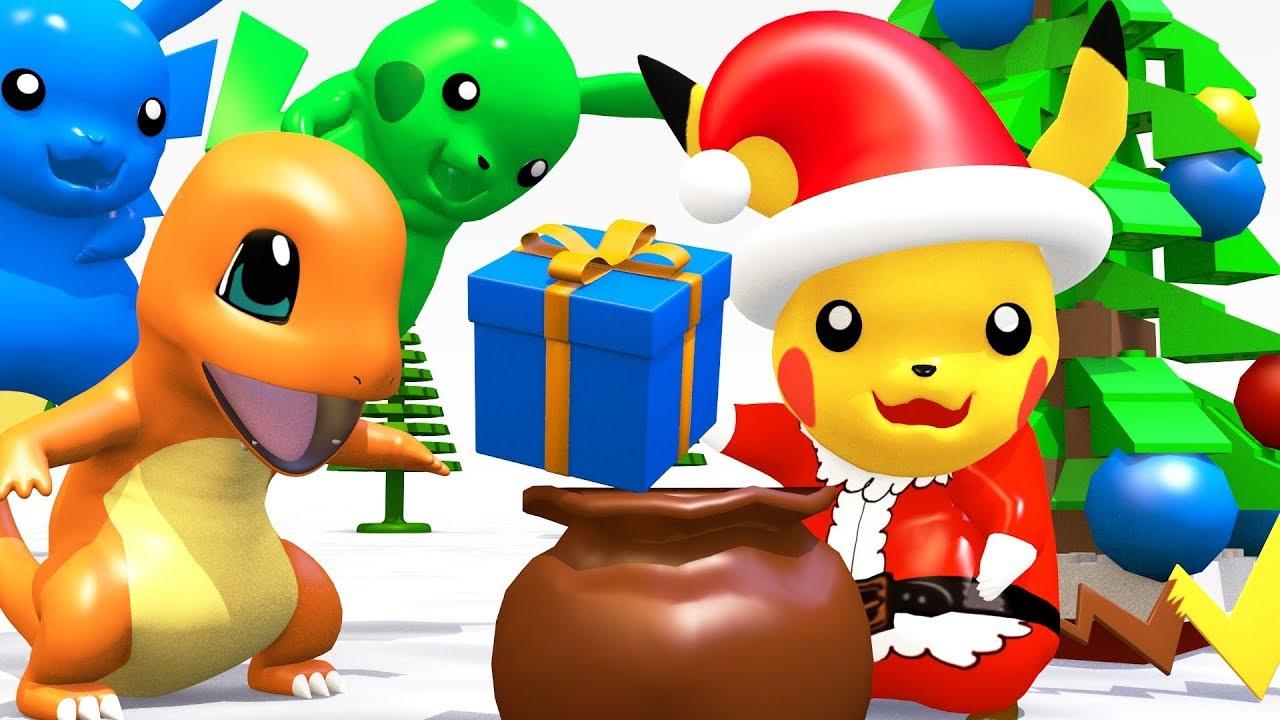 LEGO POKEMON Pikachu SANTA CLAUS Giving Christmas Gifts - YouTube