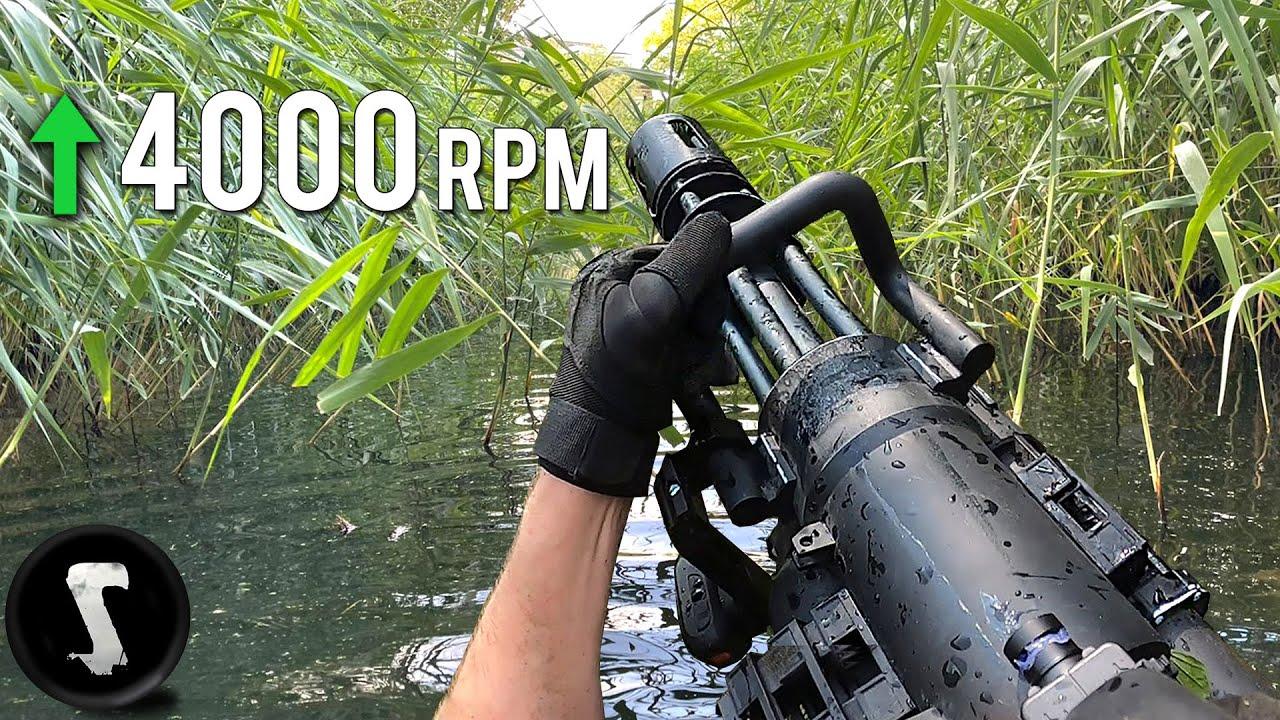 Swamp AMBUSH Mission - OVERPOWERED Airsoft M134 Minigun