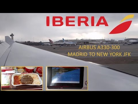 Iberia Airbus A330-300: Madrid to New York JFK