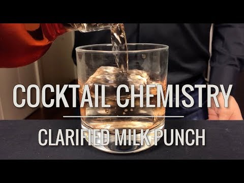 Advanced Techniques Clarified Milk Punch