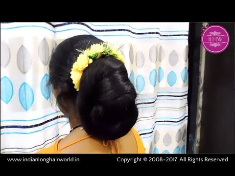 ILHW Rapunzel Ganga's Extra Huge Bun Making & Decoration by Male Hairdresser