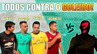 DESAFIO TODOS CONTRA UM GOLEIRÃO (COM CASTIGO!!!)
