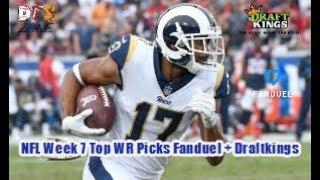 NFL Week 7 Top WR Picks Fanduel + Draftkings