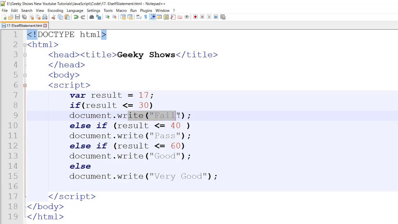 JavaScript If Else - Syntax & Examples - Tutorialkart.com