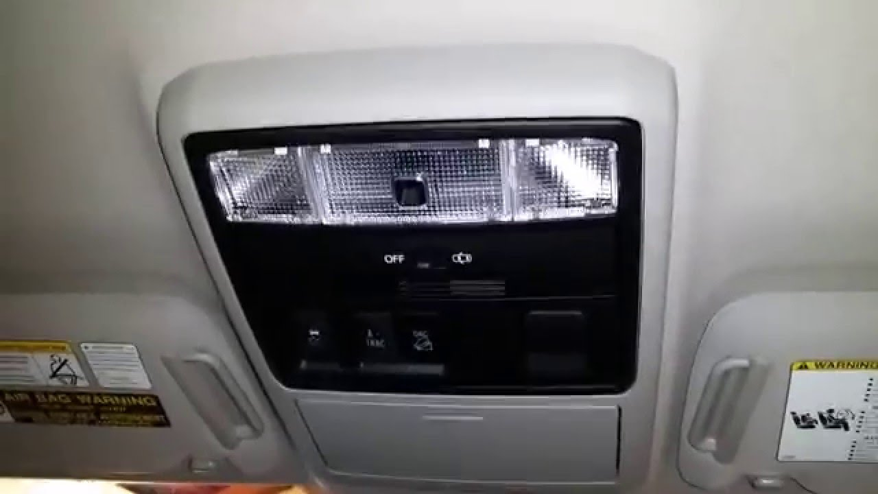2010 2016 Toyota 4runner Suv Testing Map Lights After Changing Bulbs