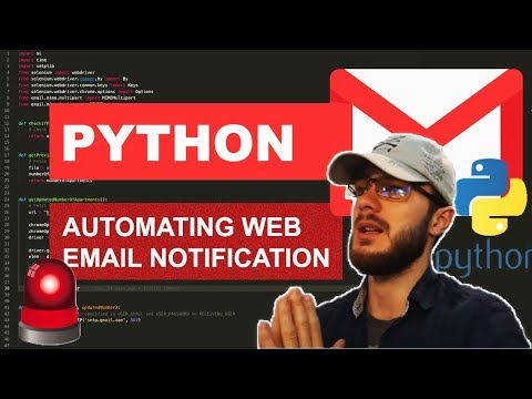 Python Tutorial: Automating Email Notifications with Selenium Webdriver thumbnail