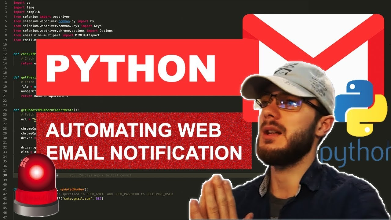 Python Tutorial: Automating Email Notifications with Selenium Webdriver
