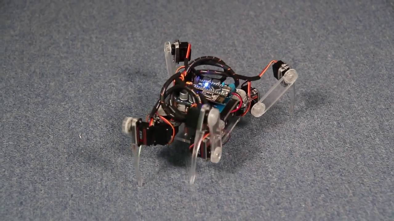Arduino spider quadruped robot kit with servo control