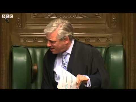 PMQs  Speaker Bercow tells Michael Gove to write lines