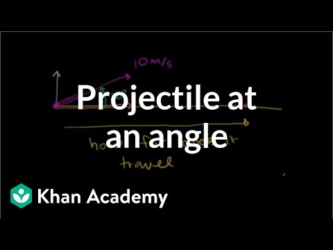 Projectile at an angle | Two-dimensional motion | Physics | Khan Academy