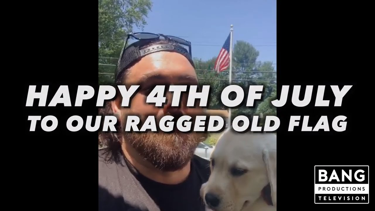COMEDIAN GERARD HARAN: HAPPY 4TH OF JULY TO OUR OLD RAGGED FLAG.... THANK YOU MR. JOHNNY CASH