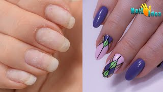 Идея красивого маникюра МК по Дизайну гель лаком Геометрия на ногтях Как рисовать ровные линии