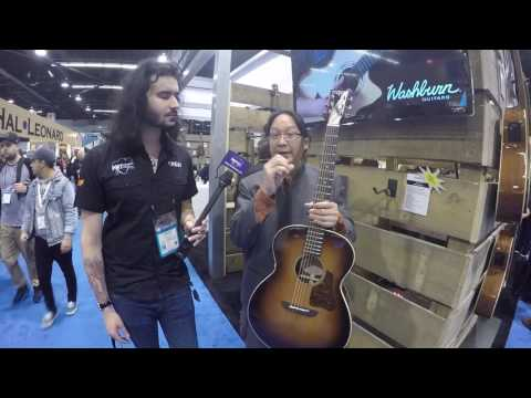 Washburn Solo Deluxe Acoustic Guitar at NAMM 2017